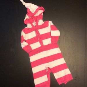 Old Navy Pink and White Stripe One Piece Sweater …
